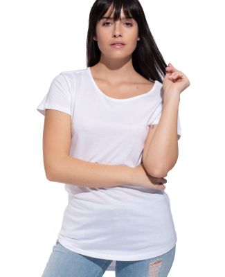 Cotton Heritage W1216 Cotton Modal Scoop Neck Tee White