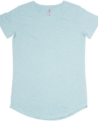 Cotton Heritage W1218 Slubby Scallop Bottom Tee Seafoam