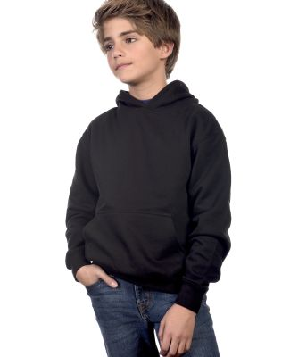 Cotton Heritage Y2500 PREMIUM PULLOVER YOUTH HOODI Black