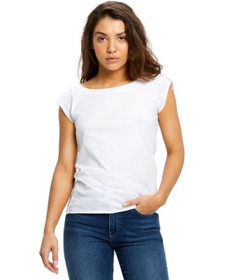 US180 US Blanks Ladies Cap Sleeve Jersey T-Shirt White