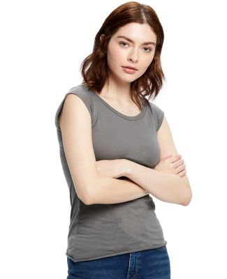 US180 US Blanks Ladies Cap Sleeve Jersey T-Shirt Asphalt