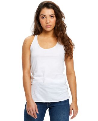 575 US Blanks Ladies Raw Edge Sheer Jersey Racer T White
