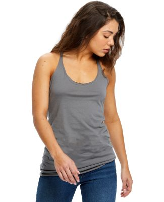 575 US Blanks Ladies Raw Edge Sheer Jersey Racer T Asphalt