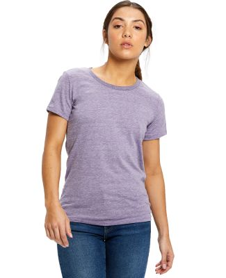 0222 US Blanks Ladies Triblend T-Shirt Tri-Purple
