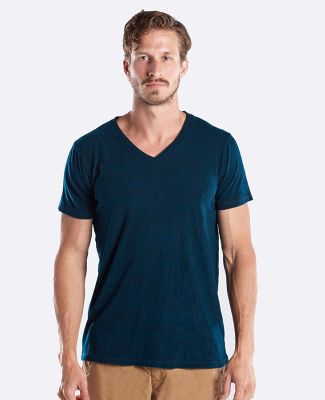 2228 US Blanks Unisex Triblend V-Neck T-Shirt Blue Green