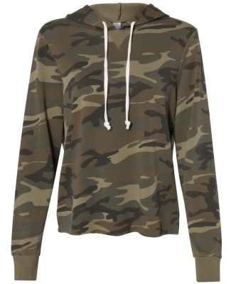 Alternative Apparel 8628 Ladies' Day Off Hoodie CAMO