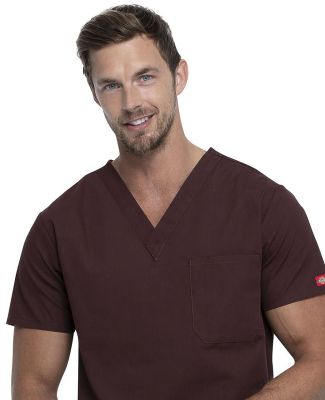 Dickies Medical 83706 / Unisex V-Neck Top Espresso