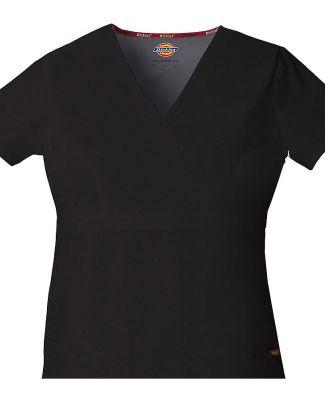Dickies Medical 85820/Mock Wrap Top Black