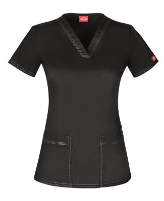 Dickies Medical / DK80DL V-Neck Top Black