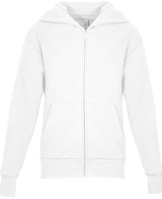 Next Level Apparel 9103 Youth Zip Hoodie WHITE