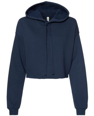 Bella + Canvas 7502 Women's Cropped Fleece Hoodie NAVY