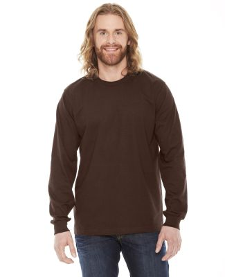 Unisex Fine Jersey USA Made Long-Sleeve T-Shirt Brown