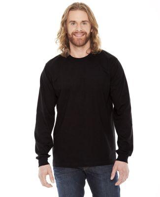 Unisex Fine Jersey USA Made Long-Sleeve T-Shirt BLACK