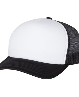Yupoong-Flex Fit 6320 Foam Trucker Cap with Curved BLACK/ WHT/ BLK