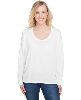 Anvil 34PVL Women's Freedom Long Sleeve T-Shirt White
