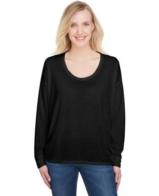 Anvil 34PVL Women's Freedom Long Sleeve T-Shirt BLACK