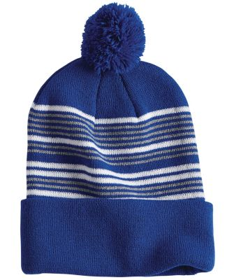 "Sportsman SP60 12"" Striped Pom-Pom Knit Cap Catalog"