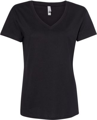 Next Level Apparel 3940 Ladies' Relaxed V-Neck T-S BLACK