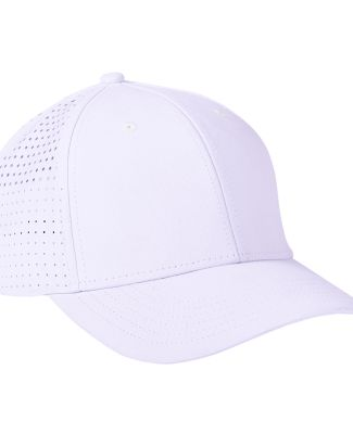 Big Accessories BA537 Performance Perforated Cap WHITE