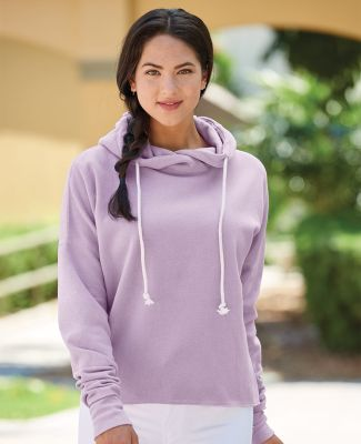 J America 8684 Women's Lounge Fleece Hi-Low Hooded Pullover Catalog