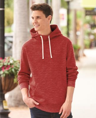 J America 8677 Melange Fleece Hooded Pullover Sweatshirt Catalog