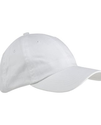 Big Accessories BX001 6-Panel Unstructured Dad Hat WHITE