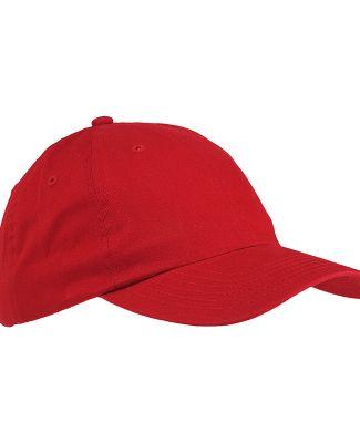 Big Accessories BX001 6-Panel Unstructured Dad Hat RED
