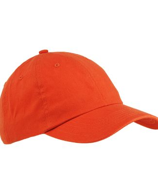 Big Accessories BX001 6-Panel Unstructured Dad Hat TANGERINE