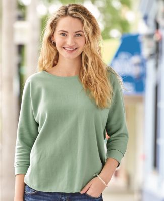 J America 8685 Women's Lounge Fleece Dolman Crewneck Sweatshirt Catalog