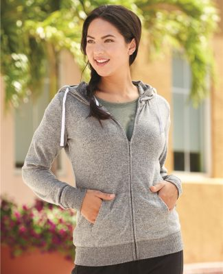J America 8656 Cozy Fleece Women's Full-Zip Hooded Sweatshirt Catalog