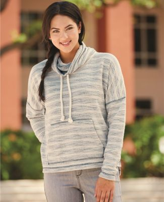 J America 8693 Baja Women's French Terry Cowlneck Pullover Catalog
