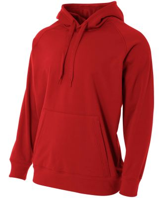 A4 Apparel NB4237 Youth Solid Tech Fleece Pulloeve Scarlet