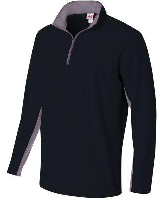 A4 Apparel N4246 Adult Tech Fleece 1/4 Zip Jacket Black/Graphite