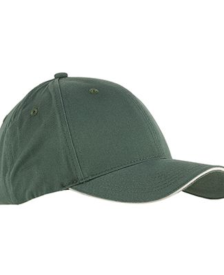 BX004 Big Accessories 6-Panel Twill Sandwich Baseb OLIVE/ STONE