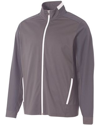A4 Apparel N4261 Adult League Full Zip Jacket Graphite/White