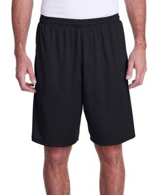 A4 Apparel N5005 Men's Color Block Pocketed Short BLACK/ GRAPHITE