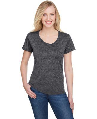 A4 Apparel NW3010 Ladies' Tonal Space-Dye T-Shirt CHARCOAL