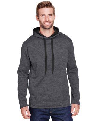 A4 Apparel N4103 Men's Tonal Space Dye-Tech Fleece Charcoal
