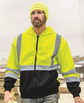 ML Kishigo JS102-103 Hi-Vis Hooded Full-Zip Sweatshirt Catalog