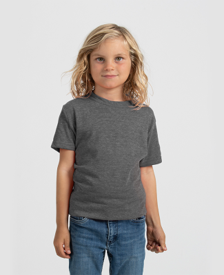 Tultex 265 - Youth Poly-Rich Blend Tee Heather Charcoal