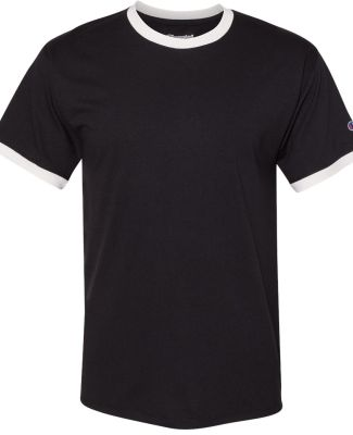 Champion Clothing CP65 Premium Fashion Ringer T-Sh Black/ Chalk White