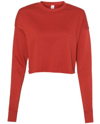Bella + Canvas 7503 Women's Cropped Crew Fleece BRICK