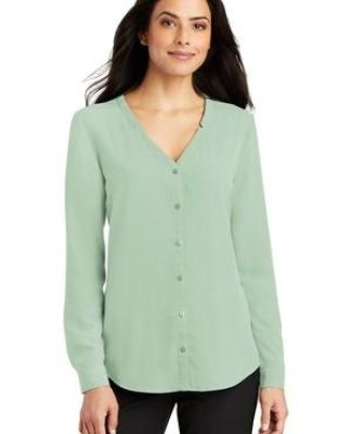 Port Authority Clothing LW700 Port Authority Ladies Long Sleeve Button-Front Blouse Catalog