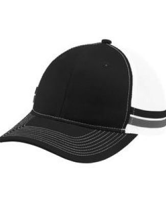 Port Authority Clothing C113 Port Authority  Two-Stripe Snapback Trucker Cap Catalog