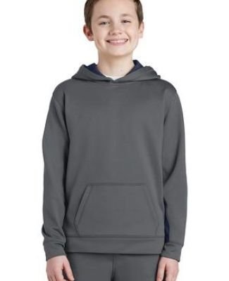 Sport Tek YST235 Sport-Tek Youth Sport-Wick Fleece Colorblock Hooded Pullover Catalog