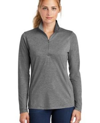 Sport Tek LST407 Sport-Tek  Ladies PosiCharge  Tri-Blend Wicking 1/4-Zip Pullover Catalog
