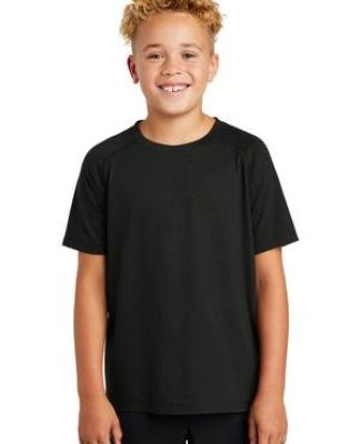 Sport Tek YST400 Sport-Tek  Youth PosiCharge  Tri-Blend Wicking Raglan Tee Catalog
