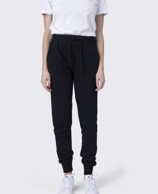 Cotton Heritage W7280 Women's French Terry Jogger Black