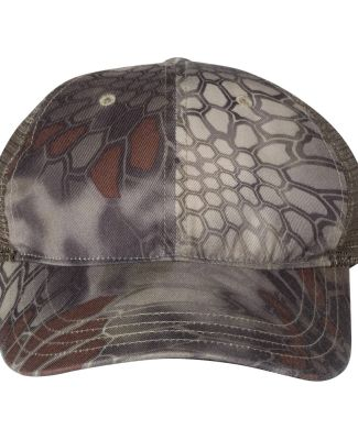 Richardson Hats 111P Washed Printed Trucker Cap Kryptek Highlander/ Brown