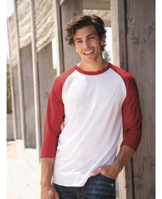 Jerzees 560RR Premium Blend Ringspun Three-Quarter Sleeve Raglan Baseball T-Shirt Catalog